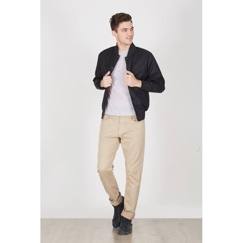 Men Old Varsity Jacket Black