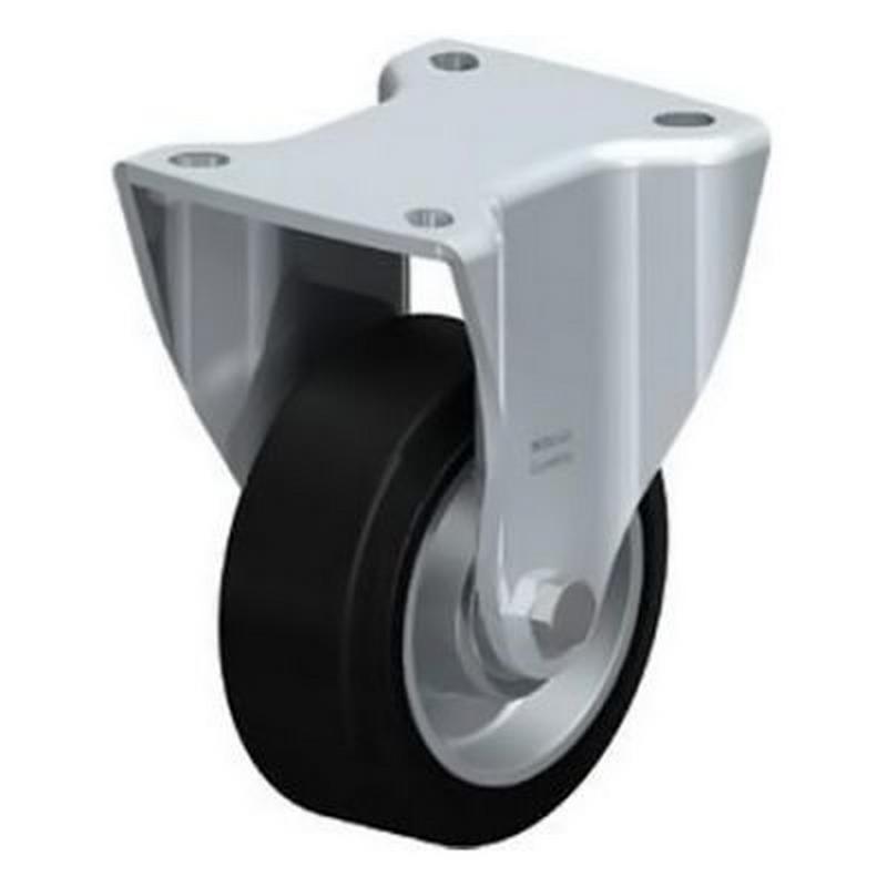BH-ALEV 100K-1 Wheel with Elastic Solid Rubber Tyre Fixed Castors BH-ALEV 127K