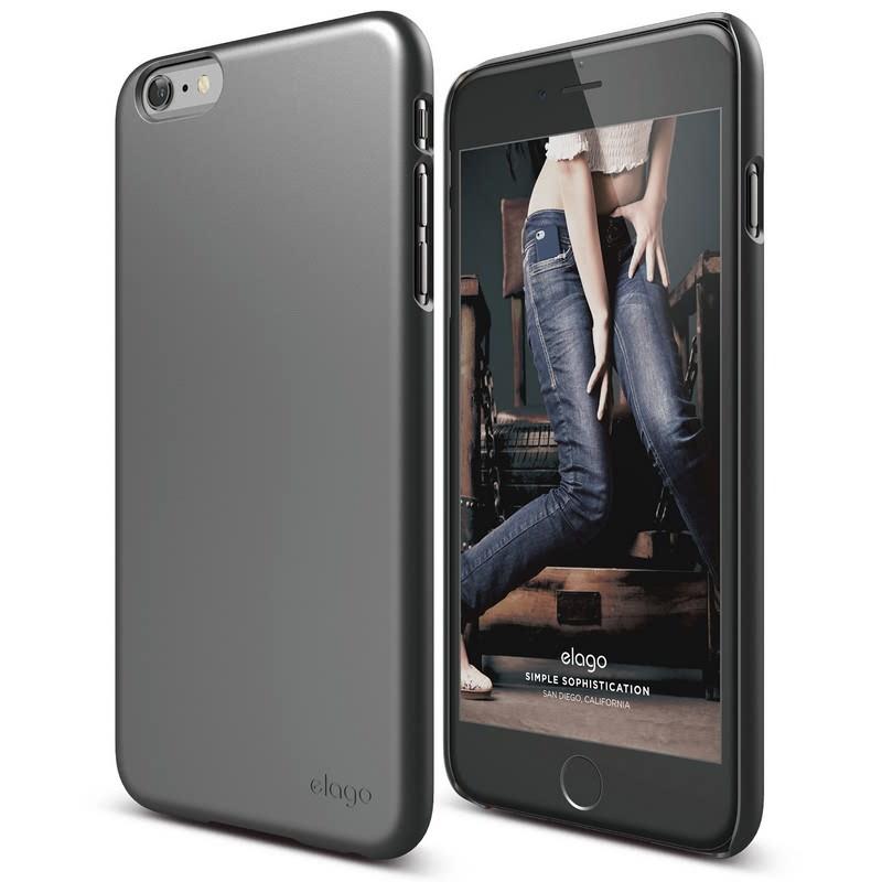 Elago Slimfit 2 Case for iPhone 6, 6S - Metallic Dark Gray (Semigloss)