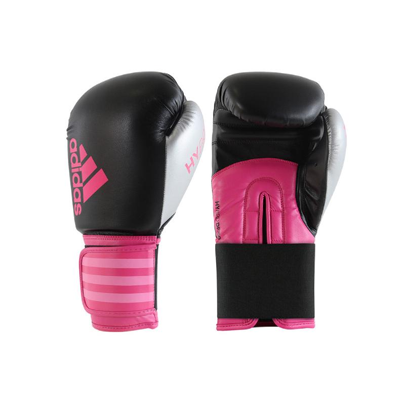 Adidas Combat Hybrid Dynamic Boxing Glove Black Shock Pink