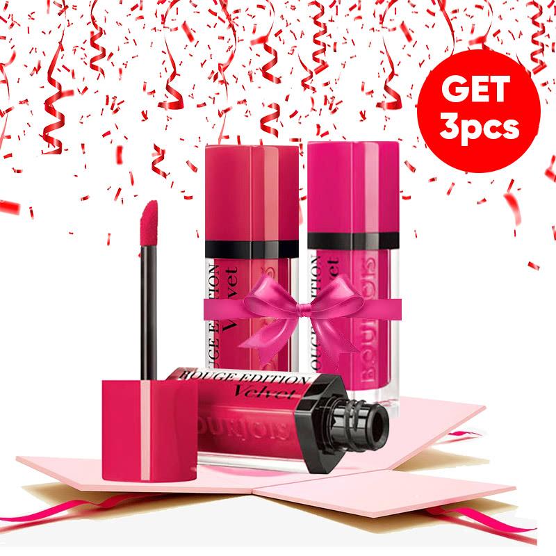 Bourjois Bundle Rouge Edition Velvet (Fuchsia + Ole Flamingo + Framboise)