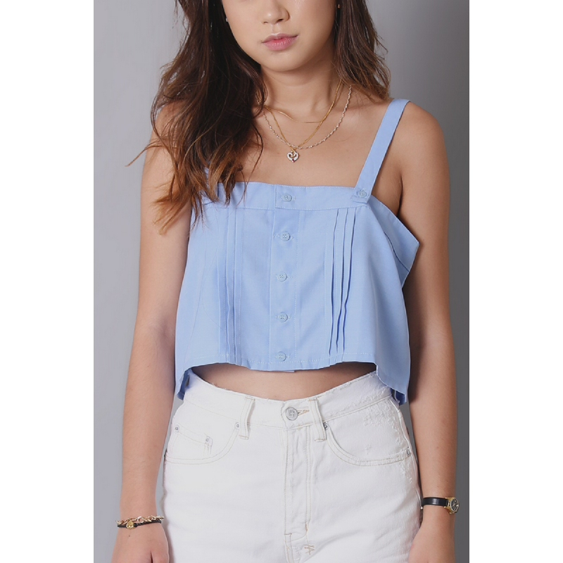 Llaces Clothing Ll Crop Top Blue