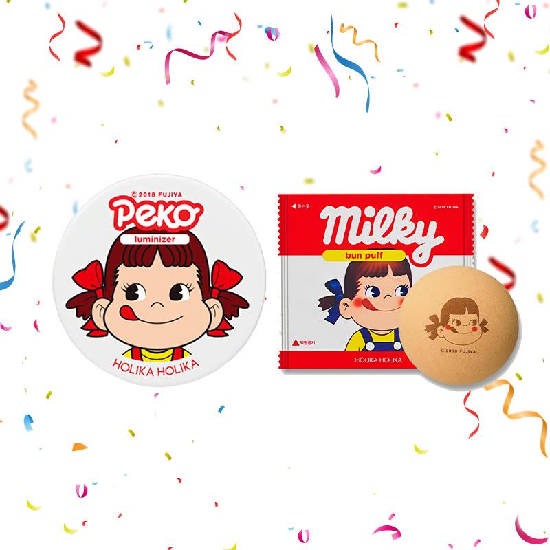 Holika Holika Peko Milky Jelly Luminizer 6g + Peko Bun Puff