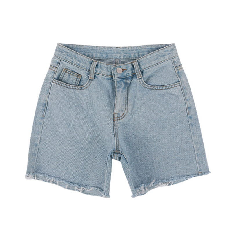 Pettite Cutting Denim Pants - LIGHT BLUE