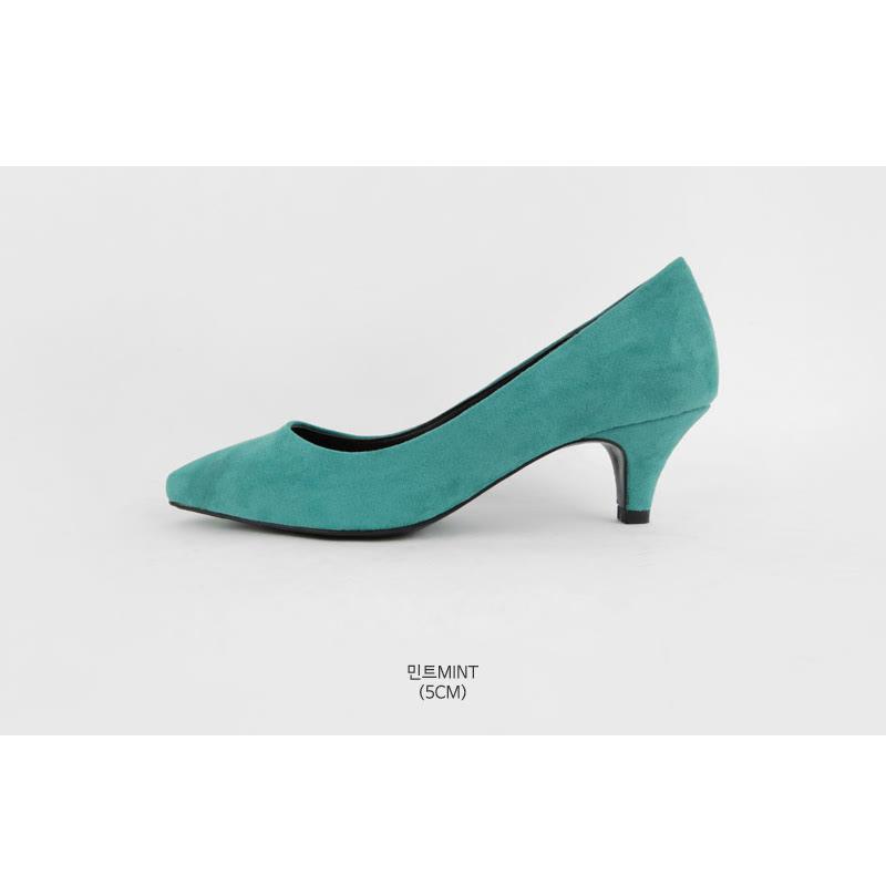 SAPPUN Marcel Suede Stiletto Heel (5cm) - Mint