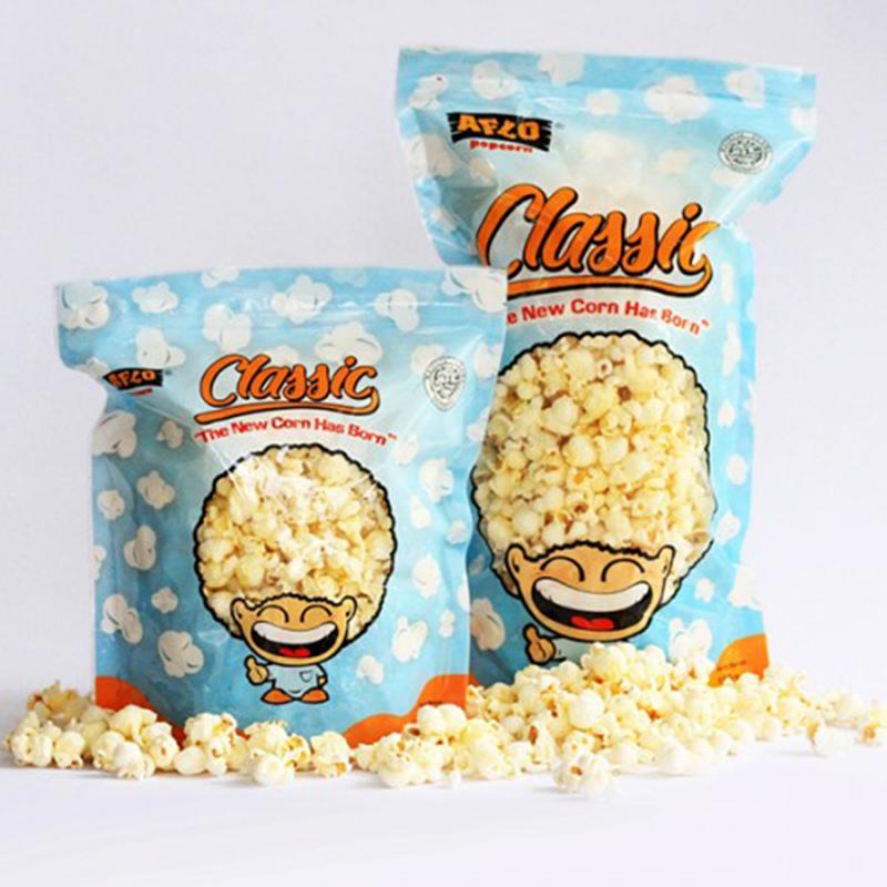 Alfo Popcorn - Aflo Classic Jagung Bakar 100 gr (isi 2 Pack)