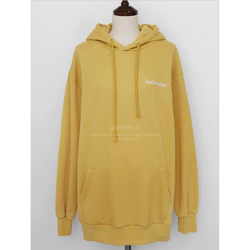 Qnigirls Long Hoodie - Yellow
