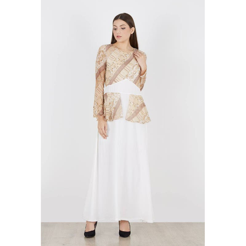 Romane Long Dress White