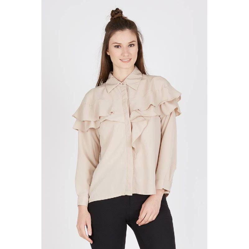 Jiwy Top In Beige