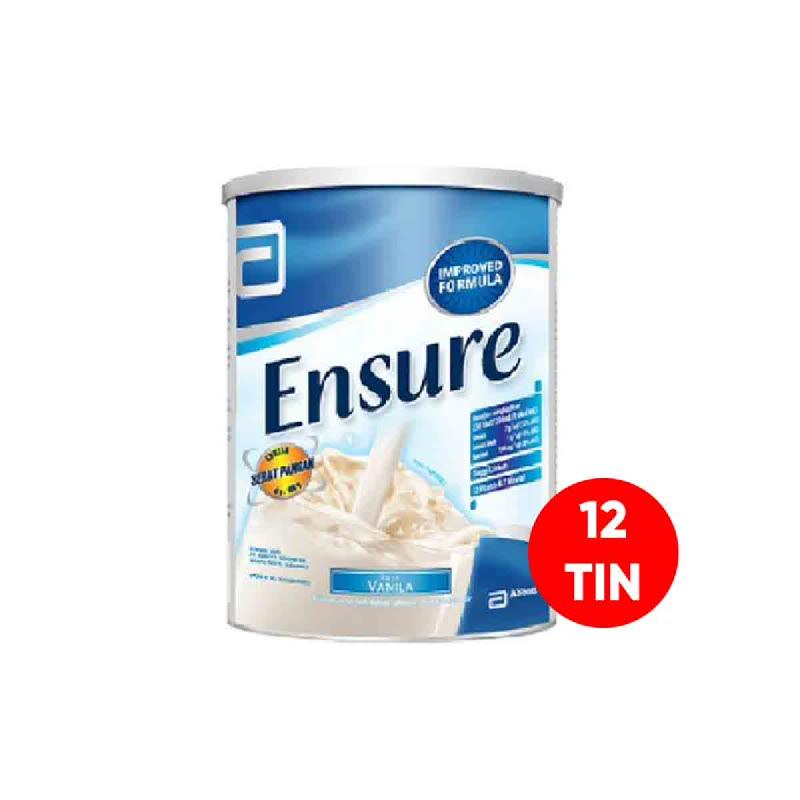 Abbott Powder Milk Ensure Fos Vanilla Tin 1000G (Get 12)
