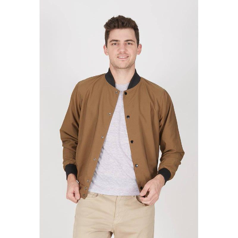Men Old Varsity Jacket Brown