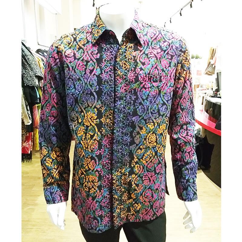 Alleira Batik Kemeja Km Dobby Hijau