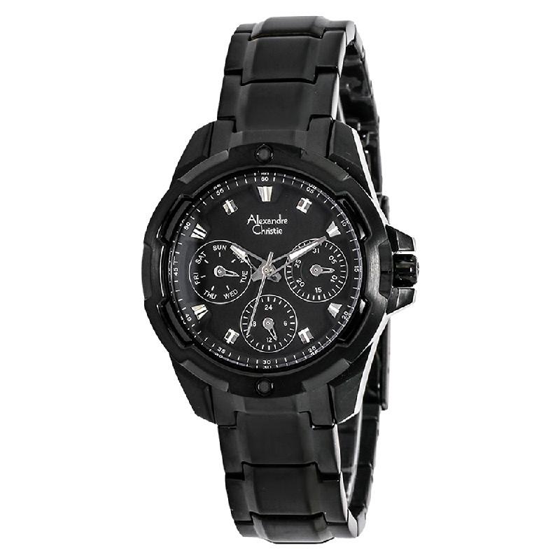 Alexandre Christie AC 6305 BF BIPBA Ladies Black Dial Multifunction Watch