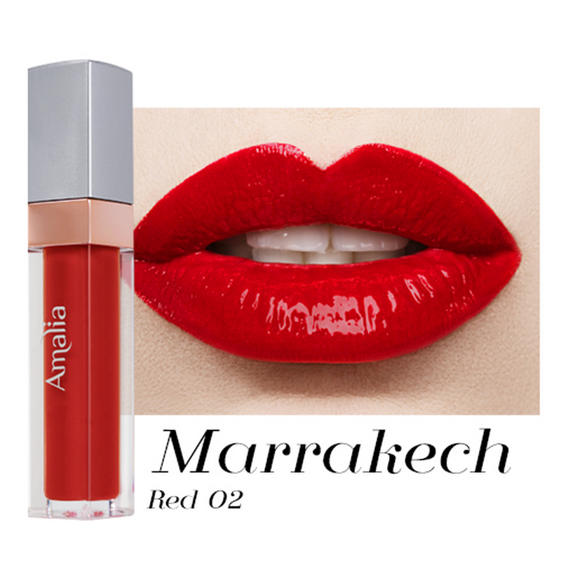 Amalia Glossy Lip Cream Marrakech Red 02