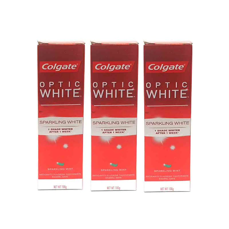Colgate Toothpaste Optic White Sparkling Mint 100 Gr (Buy 2 Get 1)