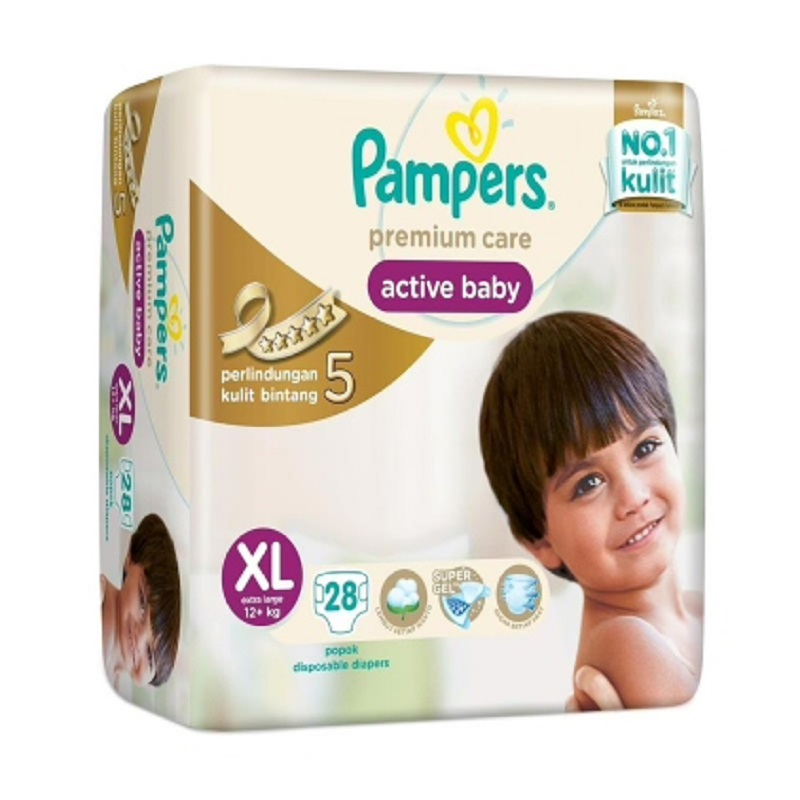 Pampers Premium Active Baby Taped Value Xl 28