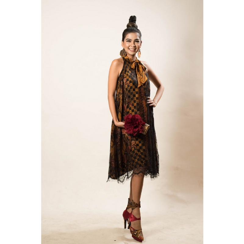 Anne Avantie Dress Pita Lapis Brokat