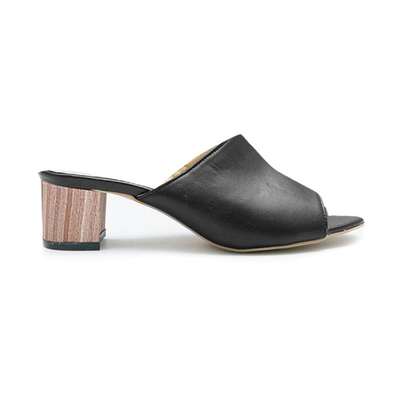 AliveLoveArts Cassey-Wood  Heels Black