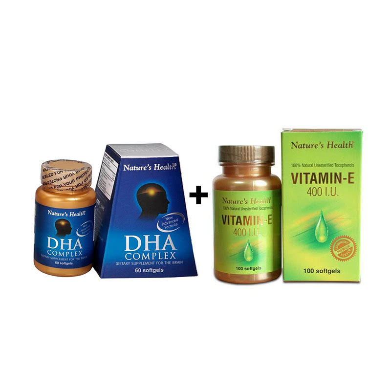 Diva - 30 Softgels + Natures Health Vitamin E 400 IU - 100 Softgels