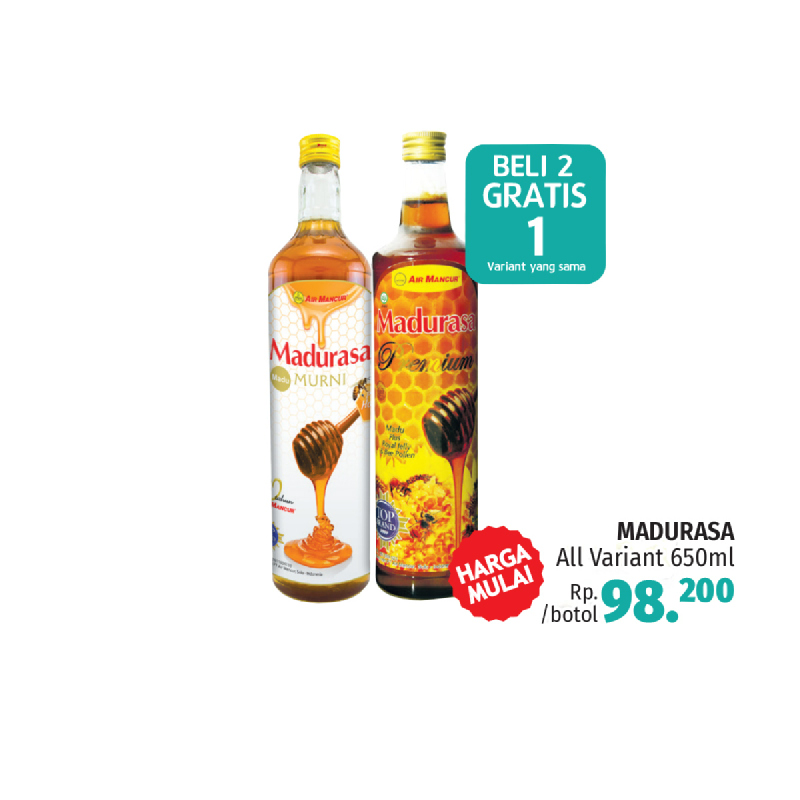Madurasa Murni 650 Ml (Buy 2 Get 1)