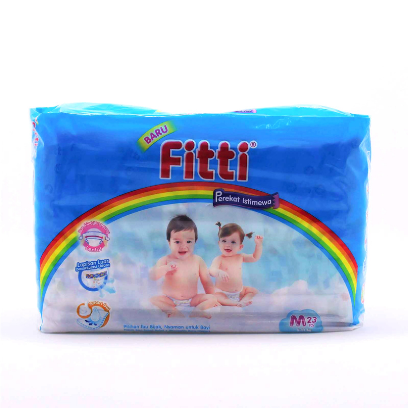 Fitti Popok Bayi Value Pack M 23 Pcs