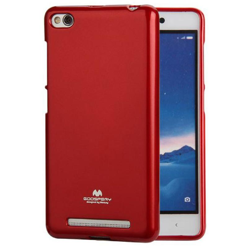 Goospery Jelly Case for Xiaomi Merahmi 3 - Merah