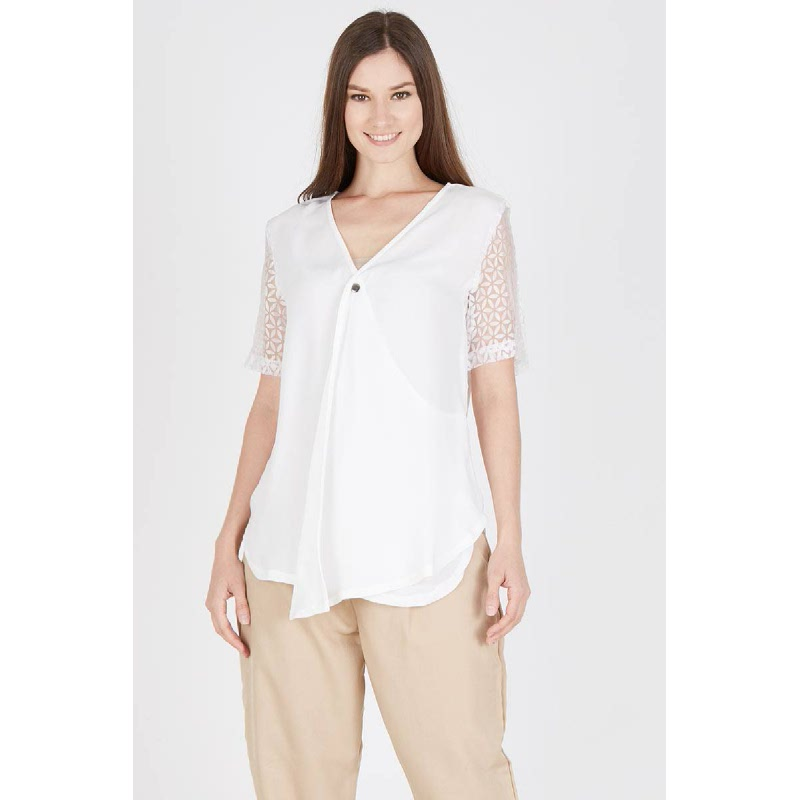 Herma Organdy White Top