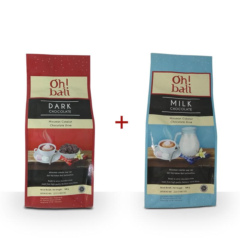 Oh! Bali Dark Chocolate 3 in 1 500 gr + Oh! Bali Milk Chocolate 3 in 1 500 gr