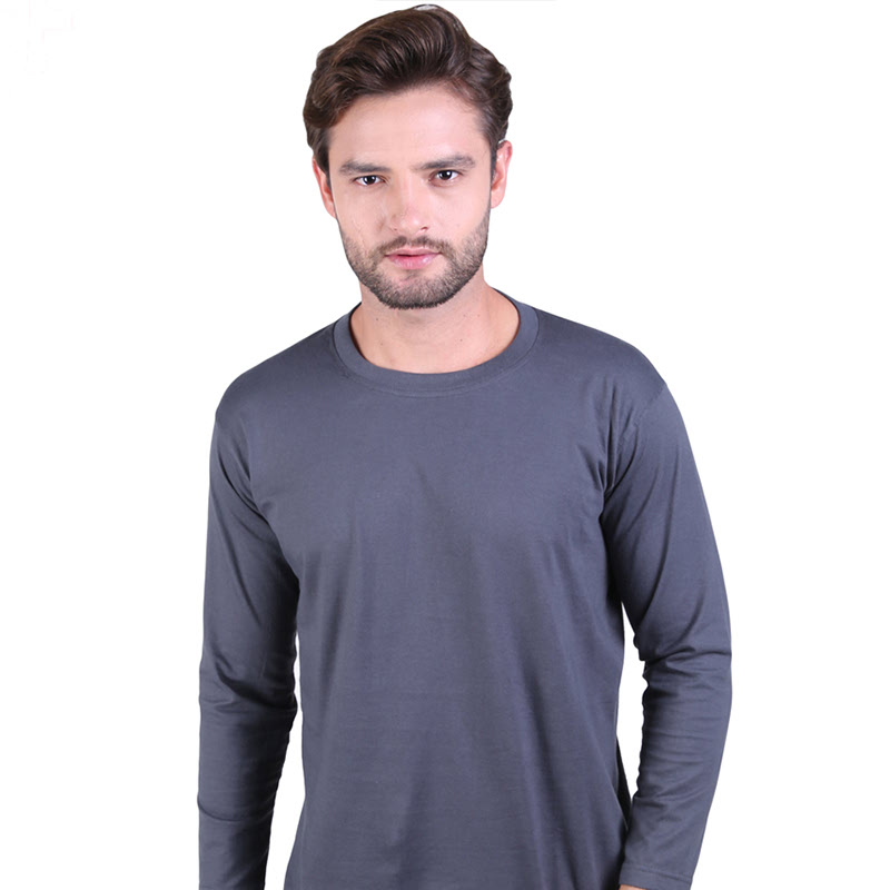 Gudang Fashion Kaos Polos Panjang Depan Belakang Cardet Abu Tua Ilotte