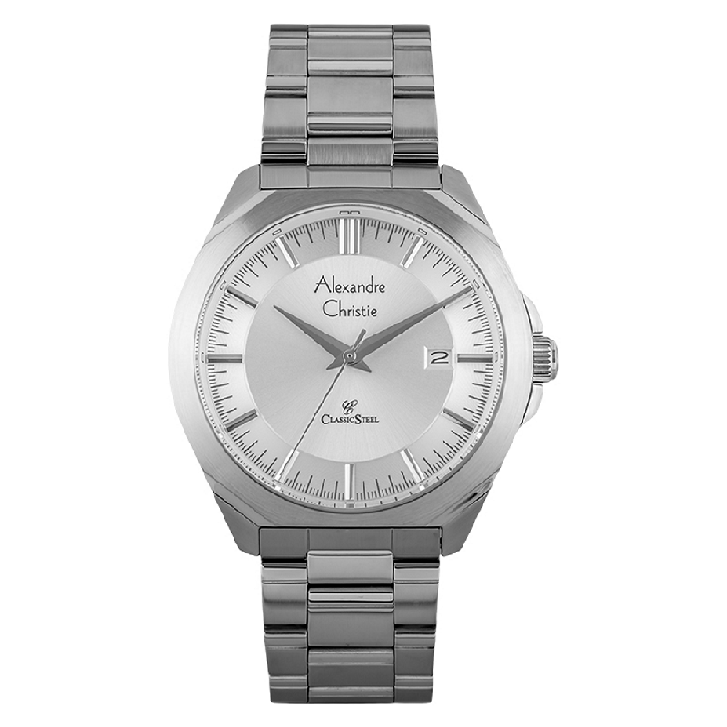 Alexandre Christie AC 8596 MD BSSSL Man White Dial Stainless Steel