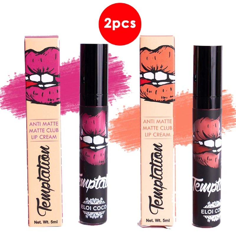 Temptation Anti Matte Matte Club Lip Cream Juicylicious 5ml + Lady Boss 5ml