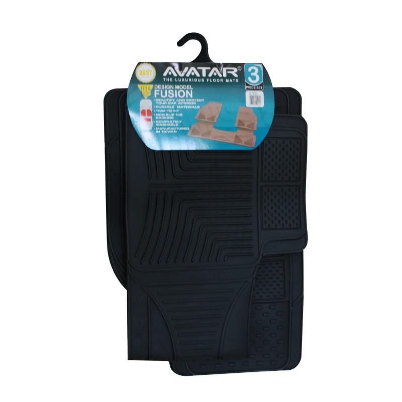 Avatar Karpet Mobil 8823 3 Buah Black