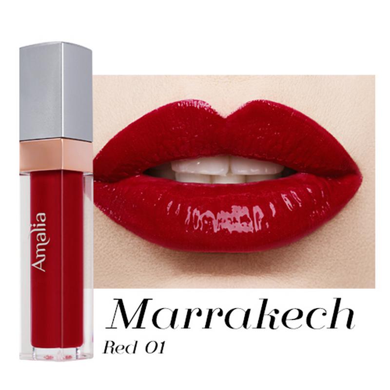 Amalia Glossy Lip Cream Marrakech Red 01
