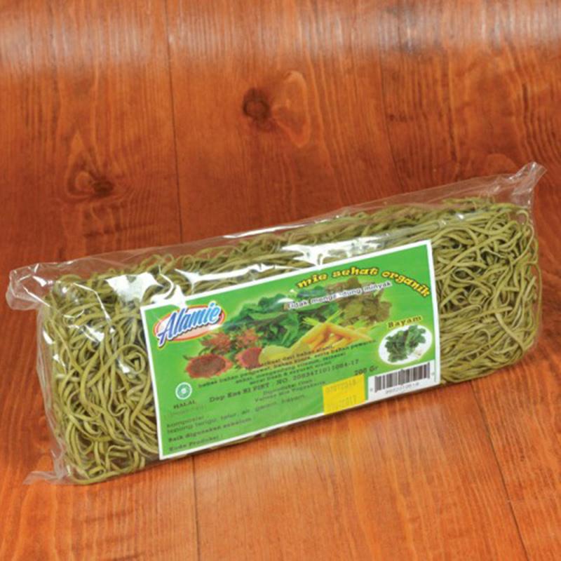 Alamie - Mie Non Bumbu Bayam Hijau (5 Pack)