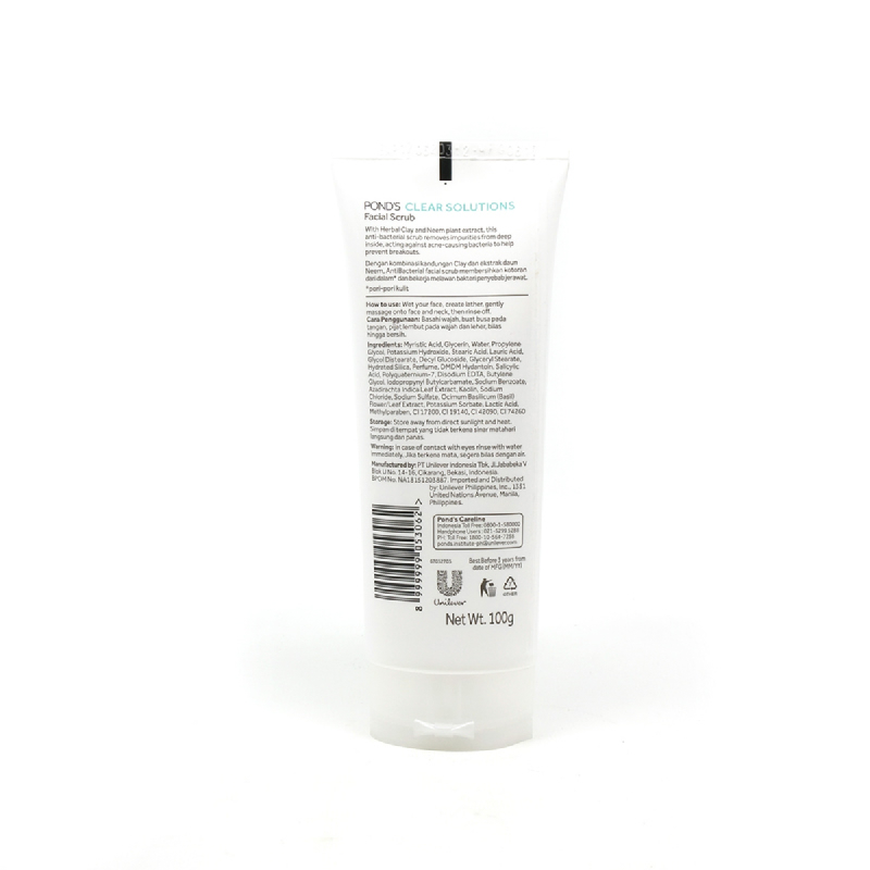 Ponds Facial Foam Clear Solutions Anti Bacterial 100G