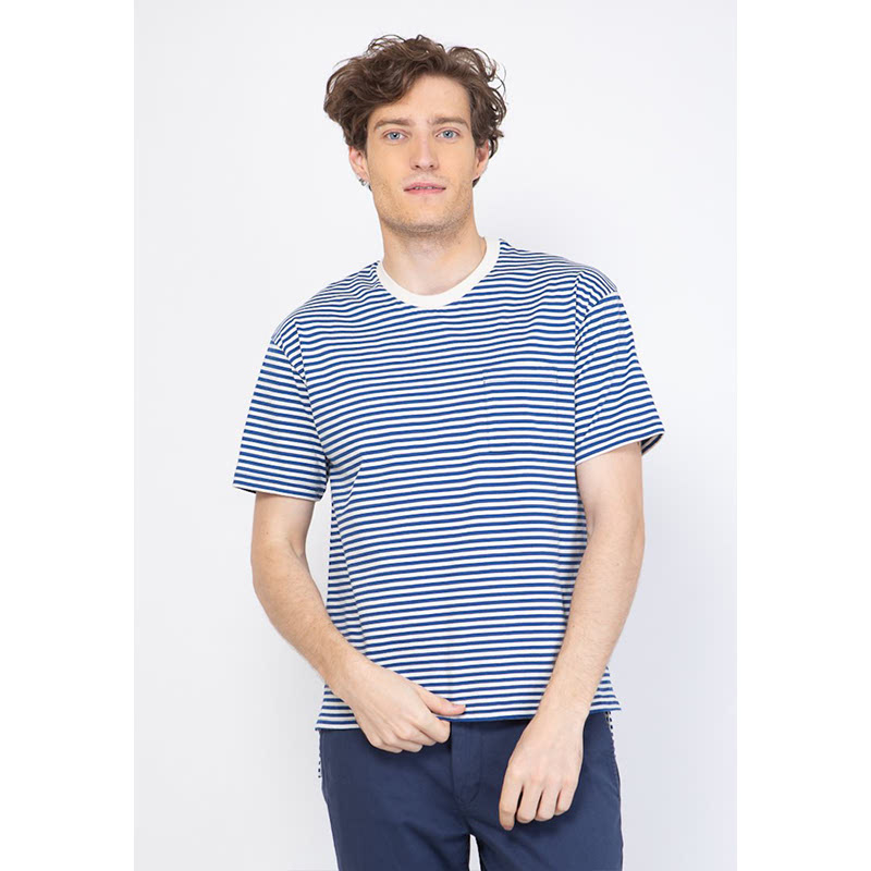 Skelly Men Tshirt Brighton Stripe Blue
