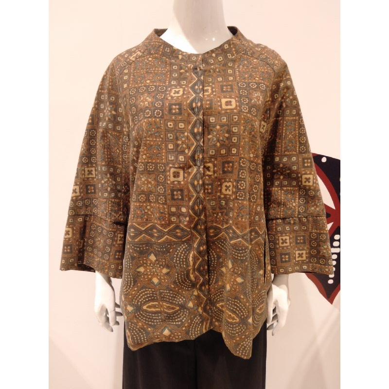 Astari Batik Blouse Brown