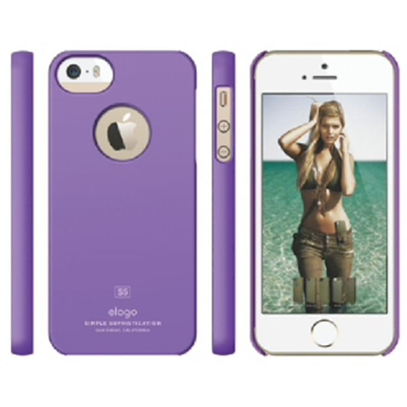 Elago Slimfit Case for iPhone SE, 5, 5S - SF Purple