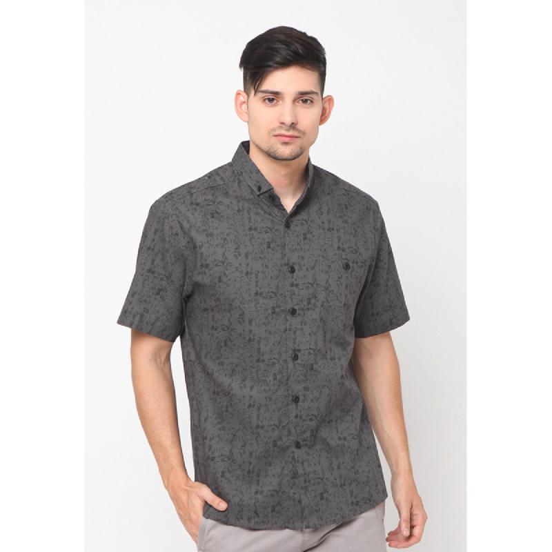 17seven Men Shirt Shortsleeve Grevez Grey