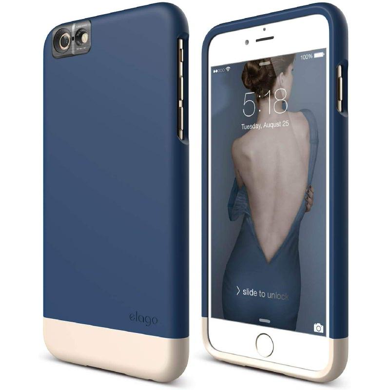 Elago Glide Cam Case for iPhone 6S Plus - Jean Indigo + SF Champagne Gold