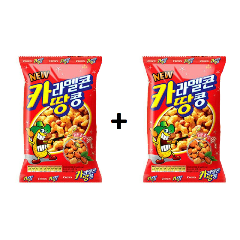 Crown - Buy 1 Get 1 Caramel & Peanut  24 gr