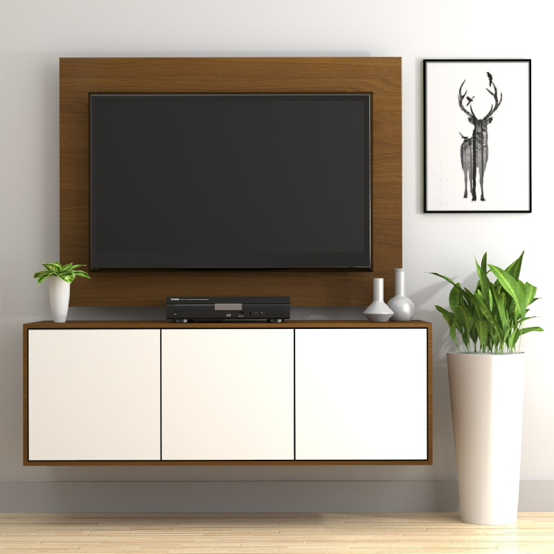 Case Cabinet TV Panel Rosewood - White PCI004-03-C14-C01