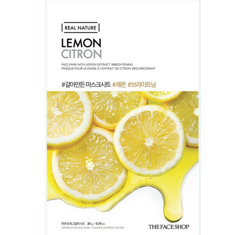 The Face Shop Real Nature Mask Sheet Lemon 2017