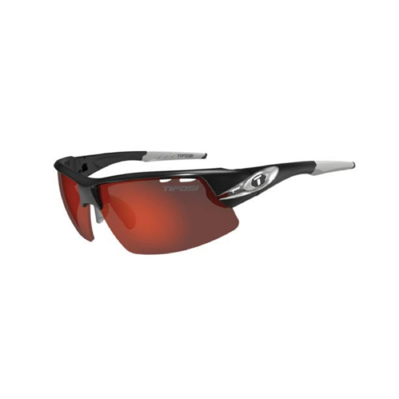 Tifosi Crit Race Silver Sunglasses 3 Lenses Clarion Red-Ac Red-Clear