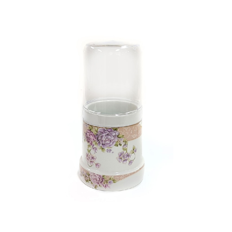 Vicenza Tableware Spoon Stand With Cover B735 Magnolia