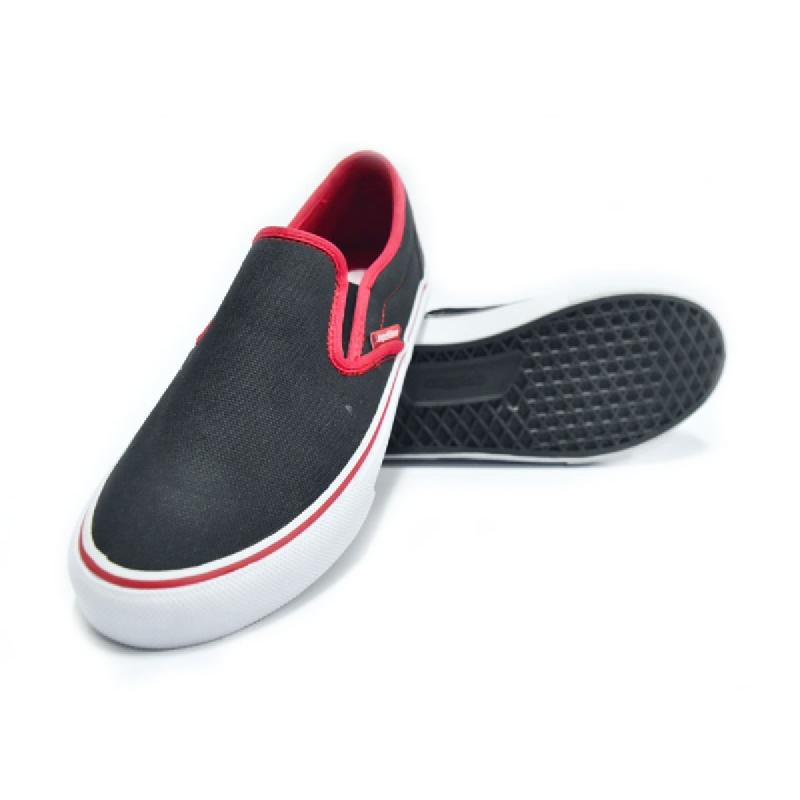 ARDILES Sepatu Slip On Ardiles Argon Man Hitam Merah