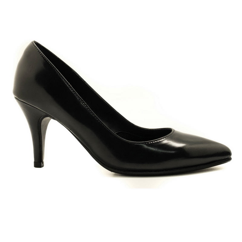 Apple Green Zaria Pump Heels Black