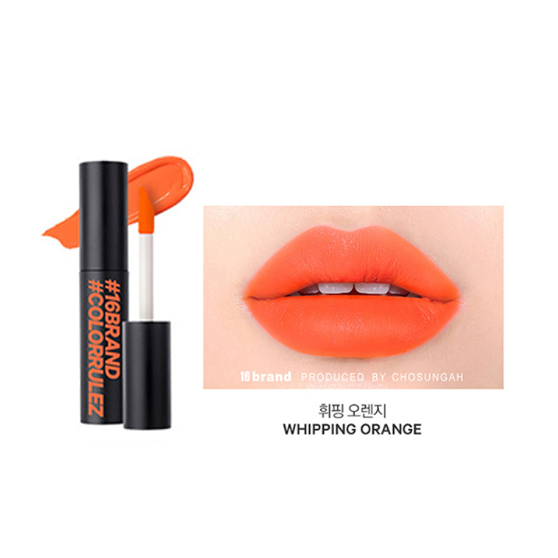 16brand Sixteen Colorrulez Velvet Lip - Whipping Orange