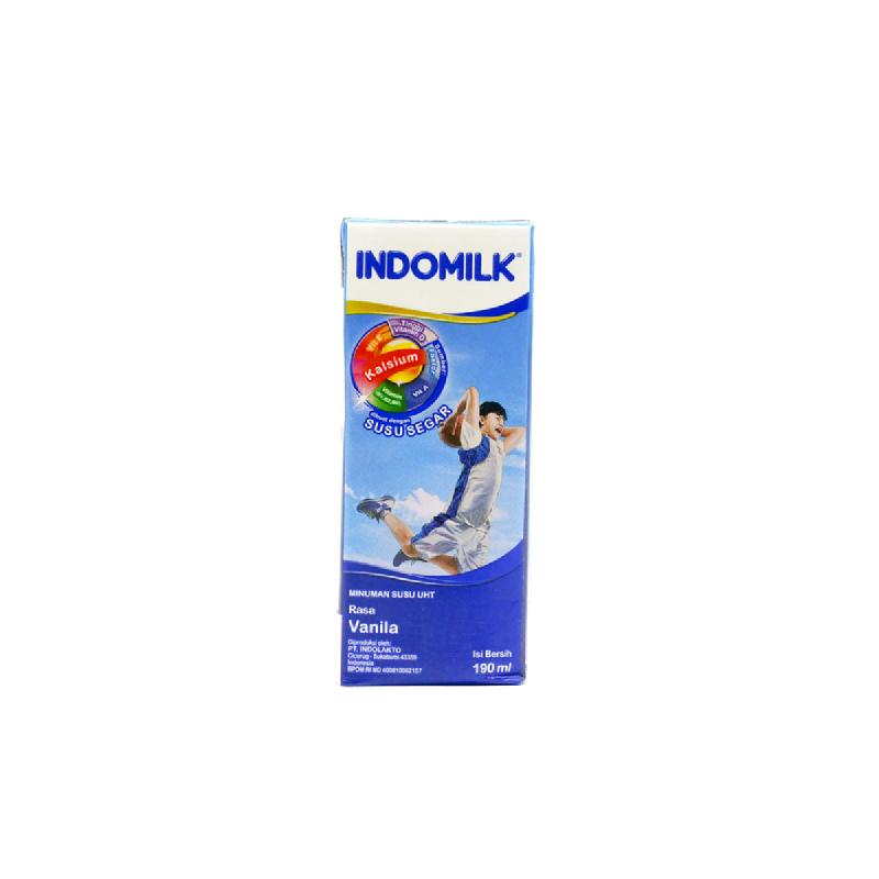 Indomilk Uht Reguler Vanilla  190 Ml