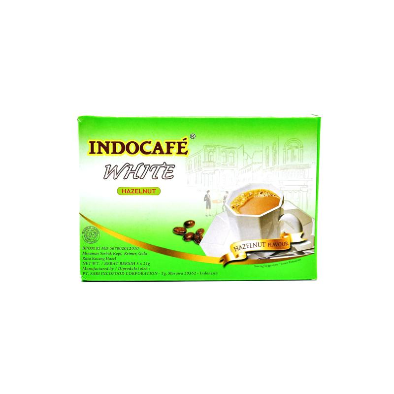 INDOCAFE WHITE HAZELNUT 5x21g